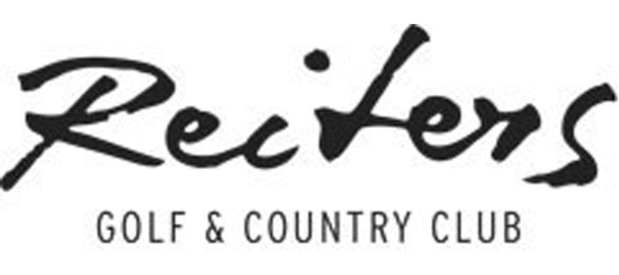 schwarzes Logo Reiters Golf & Country Club auf weißem Hintergrund