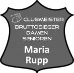 graues Schild Clubmeister Bruttosieger Damen Senioren