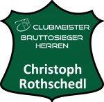 grünes Schild Clubmeister Bruttosieger Herren