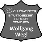 graues Schild Clubmeister Bruttosieger Herren Senioren