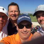 Vier Golfer auf der Runde