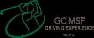 grünes Golfersymbol mit grauem Text darunter auf transparentem Hintergrund