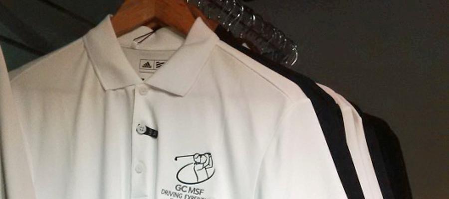 Poloschirts schwarz weiß mit GC MSF Logo