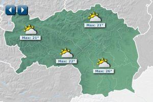 Wetterprognose Steiermark für 16. Juni 2018