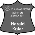 graues Schild Clubmeister Herren Senioren
