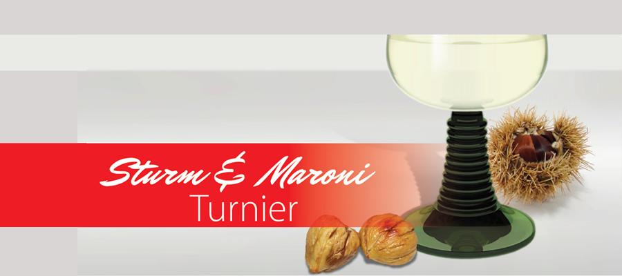 Sturm Maroni Glas Turnier Einladung
