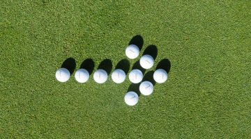 golfbälle pfeil