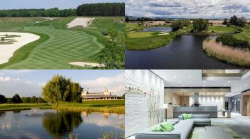 4 Bilder (Golfplätze + Hotel)